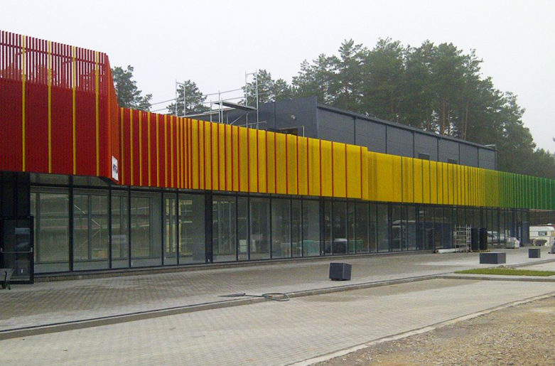 AluClik as decorative element at Office Building in Lithuania.