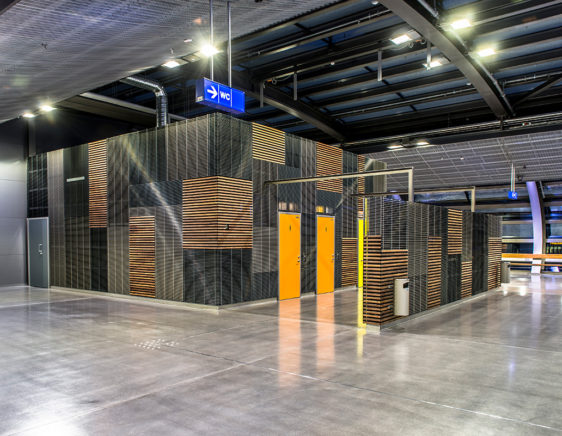 Tikkurila station - PS-P - louver - architectural louvers - louver cladding - louver with wood - aluminum louver - Alupro