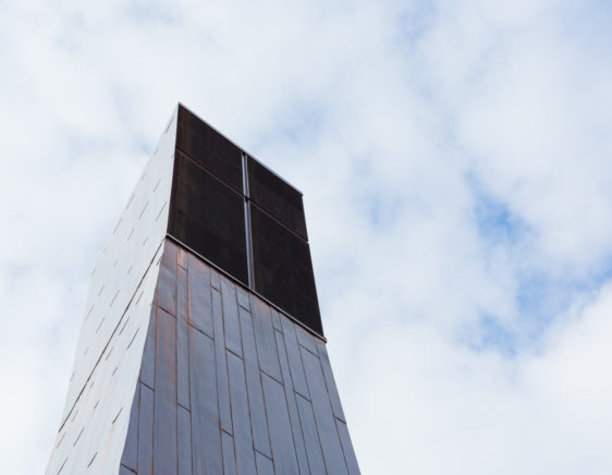 Suvela Chapel - copper louvers - facade louvers - copper facade - Alupro Oy