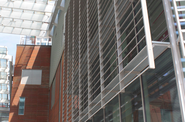 Wing louvers at Redi shopping centre, Helsinki.
